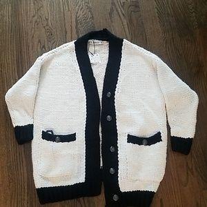 ZARA KNITS oversized sweater cardigan S will fit M